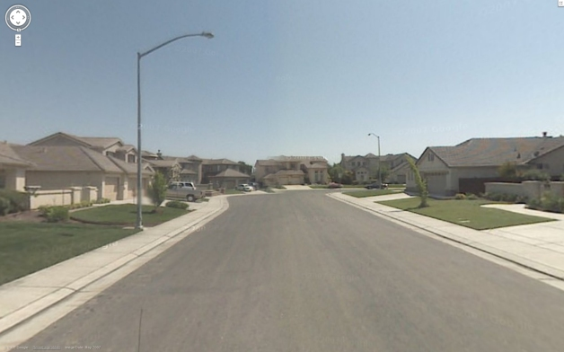 Research shows that uninviting streets in car-dependent neighborhoods, such as this one in North Stockton, foster negative attitudes in children towards their communities