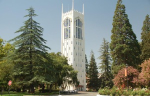 Burns Tower on the campus of UOP