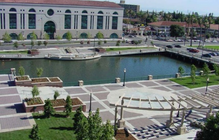 Dean DeCarli Square after a makeover thanks to the EPA's Brownfields Program