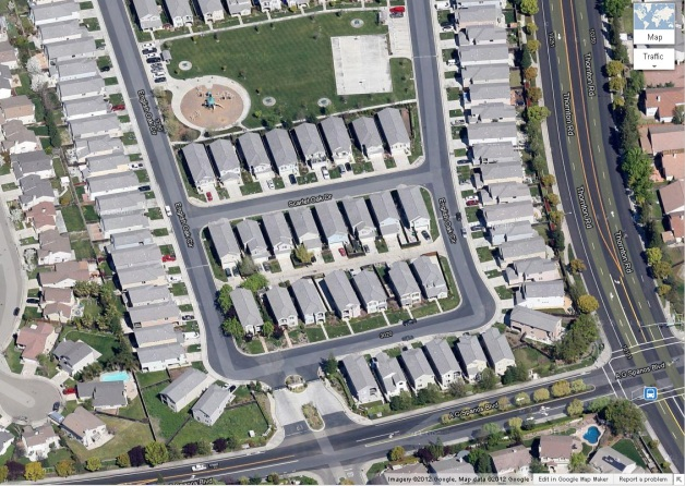 the Glen Oaks townhomes in North Stockton