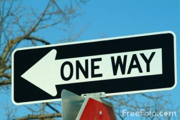 SCL one way sign