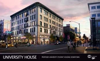 Rendering for Cort Companies' proposed University House- Credit Cort Companies