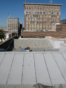 Today, the roof if all patched up