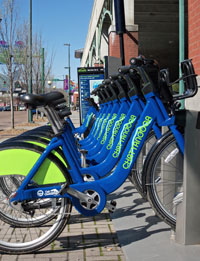 Chattanooga, Tennessee debuted a bike share program late last year, providing a model for a similar program in Stockton