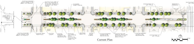 Current plan for Phase 2 of the Weber Avenue Streetscape Beautification Project (c.o Siegfried Engineering)