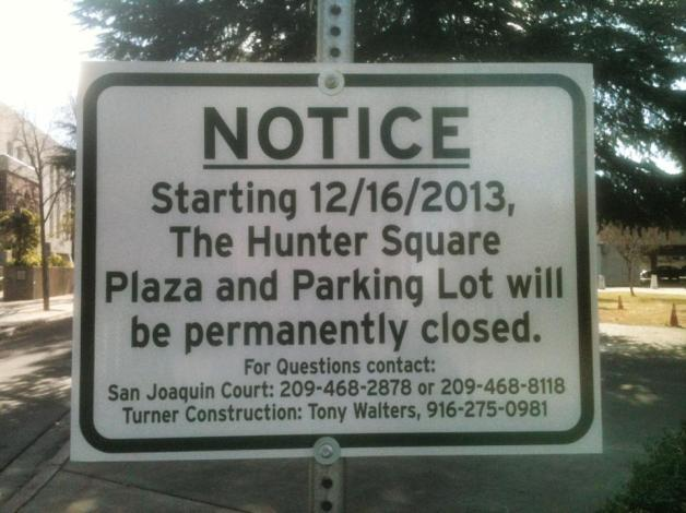 Notices went up last week around Hunter Square (c/o Floyd Perry via Alice van Ommeren)