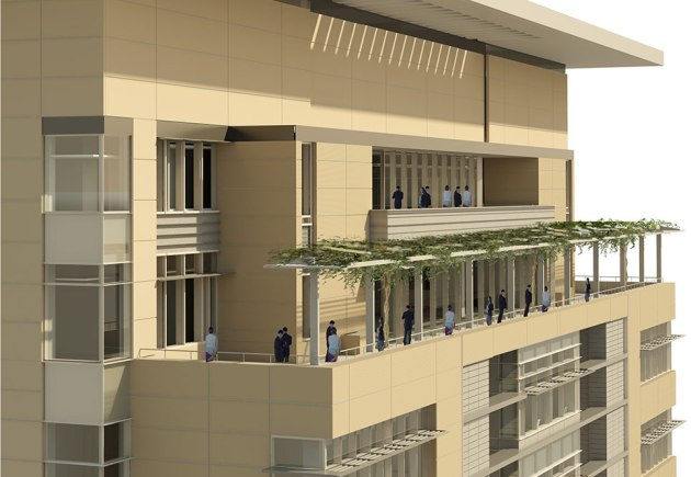 The 12th floor will include a jury duty terrace (c/o NBBJ)