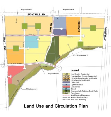 Bear Creek East land use plan (available on the stocktongtov.com)