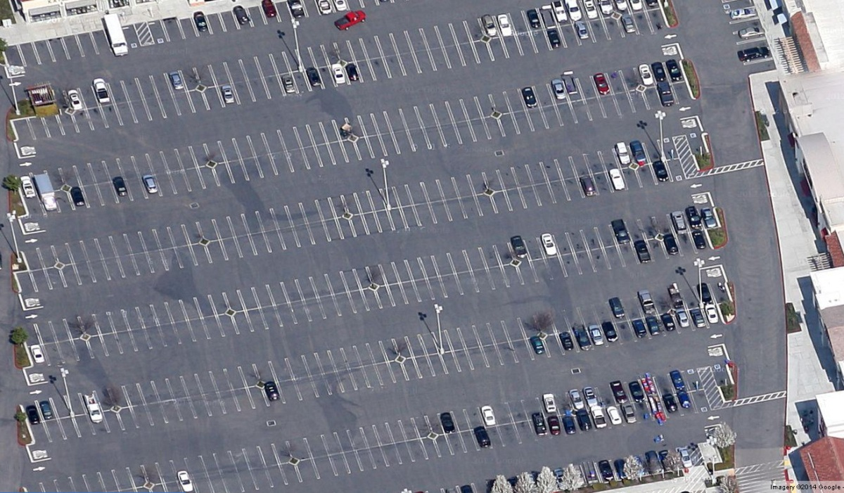 Why are Stockton's parking lots so big and empty?