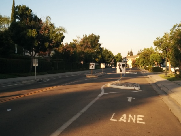 Iron Canyon Circle features the city's worst traffic calming attempt
