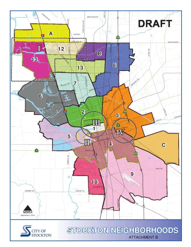 City staff released the first draft of the General Plan Neighborhood map a few weeks ago.