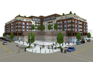 Grand View Village is a proposed mixed-use affordable housing project along Miner Avenue in Downtown Stockton