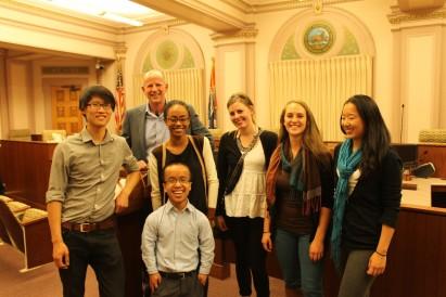 Students at Stockton City Hall on April 9, 2015. Photo Credit: Derek Ouyang