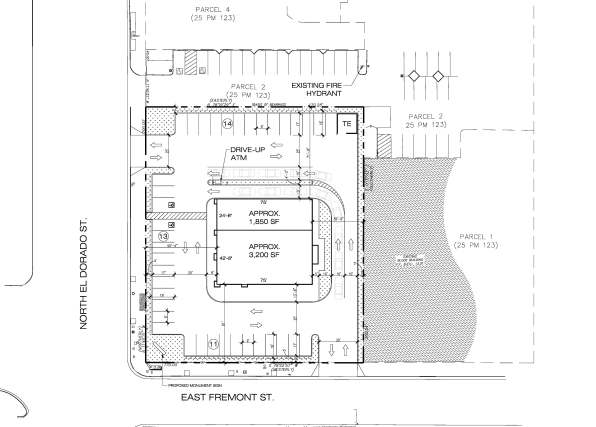 Site Plan For Proposed Chase Bank Starbucks In Downtown As You Can See The Building Is Setback Significantly From Street Which Contrast To Most