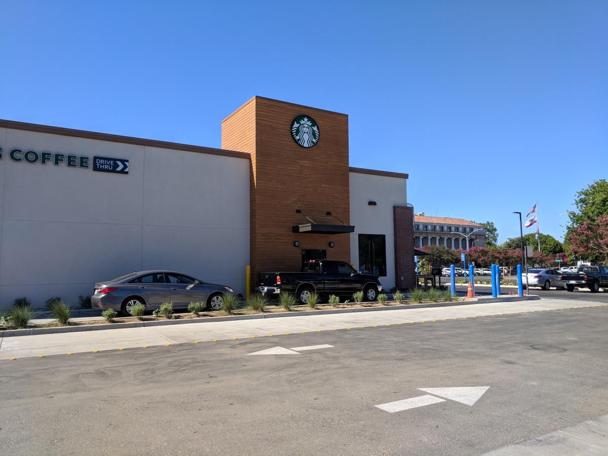 Stockton put local coffee at a disadvantage by approving a  downtown drive thru Starbucks
